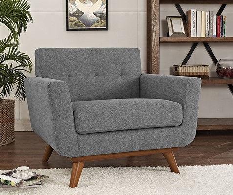 LexMod Engage Upholstered Armchair - office chairs for over 300 pounds