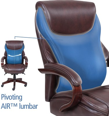 La-Z-Boy Hyland Executive Bonded Leather Office Chair - best desk chair for lower back pain