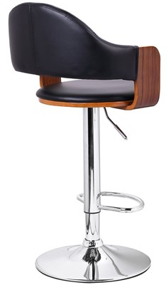 Adeco Swivel Hydraulic bar Stool - bar stool with back support