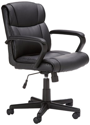 Amazon Basics Mid-Back Chair - office chair for short heavy person