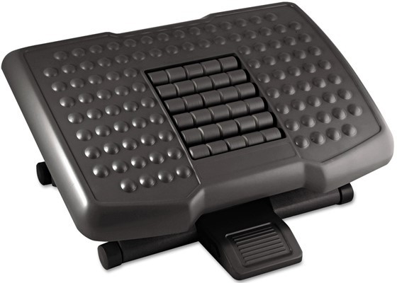 Kantek Premium Adjustable Footrest - small footrest for computer desk
