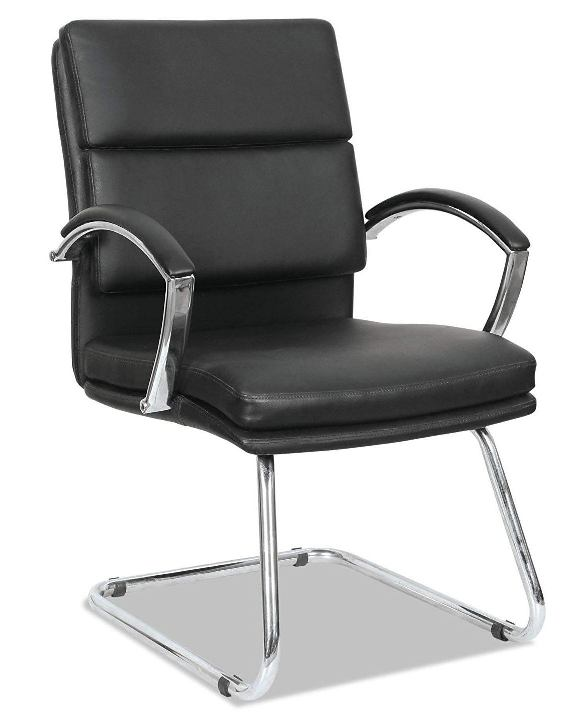 Alera Madaris Leather Guest Chair-Top 10 Best Visitor Chair Reviews for Office