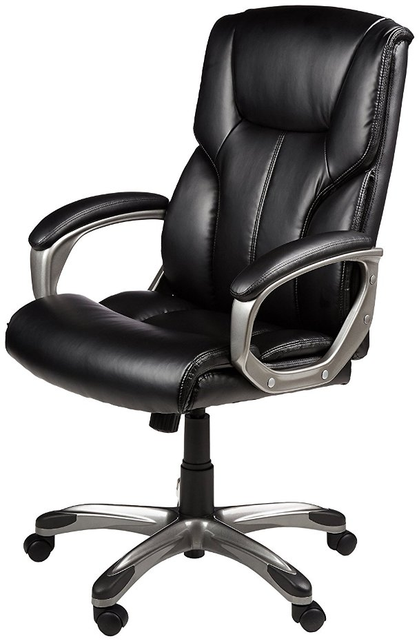 AmazonBasics High Back Executive Chair-Top 10 Best Office Chairs Reviews for Tall People
