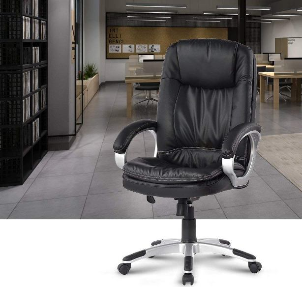 LANGRIA High-Back Executive Office Chair-Top Best Office Chairs Reviews for Tall People