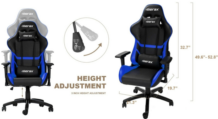 Merax High Back Computer Chair-Top 10 Best Office Chairs Reviews for Tall People
