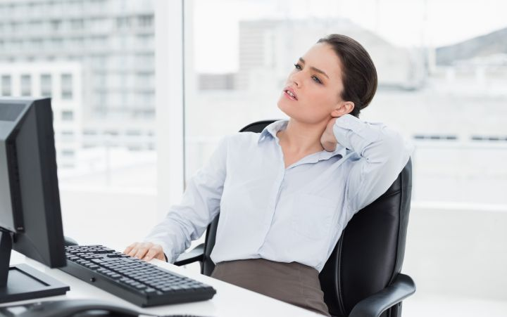 Neck pain is common among those spending long hours sitting