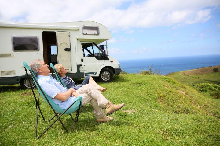 Elderly camping